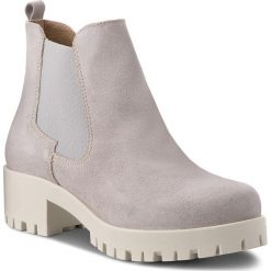 Botki TAMARIS - 1-25435-30 Lt. Grey Suede 231. Szare buty zimowe damskie marki Tamaris, z materiału. W wyprzedaży za 189,00 zł.