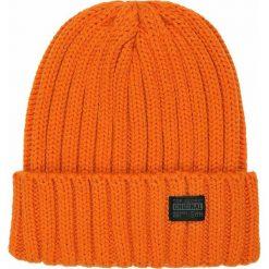 896947598e7629 CZAPKA MĘSKA. Pomarańczowe czapki męskie Top Secret, na lato, bez wzorów, z