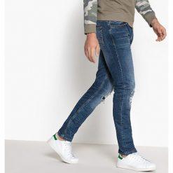 Jeansy coupe slim styl destroy. Szare jeansy męskie slim marki La Redoute Collections. Za 141,08 zł.