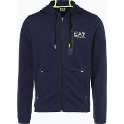 Bejsbolówki męskie: EA7 - Męska bluza rozpinana, niebieski
