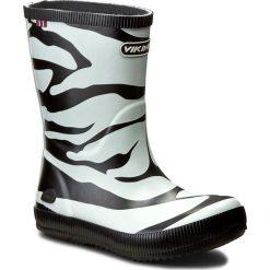 Kalosze VIKING - Classic Indie Zebra 1-14200-201 Black/White. Białe kalosze chłopięce marki Viking. W wyprzedaży za 129,00 zł.