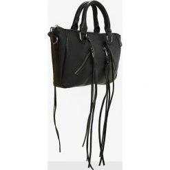 Missguided - Torebka. Szare torebki klasyczne damskie marki Missguided, w paski, z bawełny, średnie. W wyprzedaży za 59,90 zł.