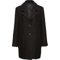 Płaszcz boucle w kratę bonprix czarny. Czarne płaszcze damskie bonprix, klasyczne. Za 139,99 zł.