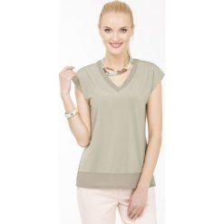 Bluzki asymetryczne: Bluzka z szarfą
