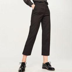Spodnie z wysokim stanem: Spodnie z podwyższonym stanem - Czarny