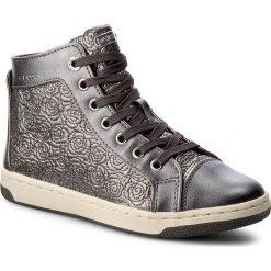 Sneakersy GEOX - J Creamy E J62L5E 0ASAJ C1009 D Dk Silver. Szare buty sportowe chłopięce Geox, z materiału, na zamek. W wyprzedaży za 179,00 zł.