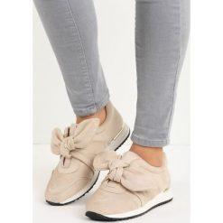 Beżowe Buty Sportowe Instruction. Brązowe buty sportowe damskie marki NEWFEEL, z gumy. Za 59,99 zł.
