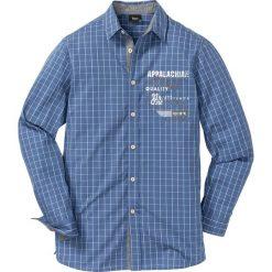 Koszula w kratę Regular Fit bonprix niebiesko-biały w kratę. Białe koszule męskie marki bonprix, z klasycznym kołnierzykiem, z długim rękawem. Za 89,99 zł.