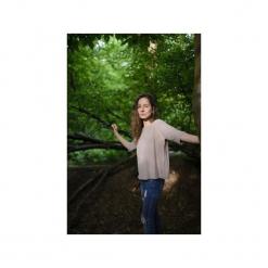 T-shirt oversized/ z organicznej bawełny. Brązowe t-shirty damskie marki Siss, m, z bawełny. Za 145,00 zł.