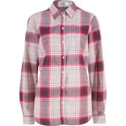 Bluzka z długim rękawem bonprix czerwony w kratę. Czerwone bluzki longsleeves marki OLAIAN, s, z materiału. Za 37,99 zł.