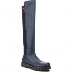 Muszkieterki TOMMY JEANS - Sock Tommy Jeans Boo EN0EN00382 Midnight 403. Niebieskie buty zimowe damskie Tommy Jeans, z jeansu. Za 799,00 zł.