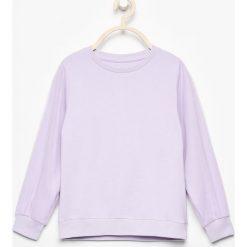 Bluzy dziewczęce: Bluza z tiulem na rękawach - Fioletowy