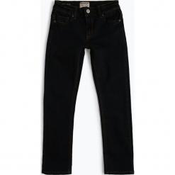 Review - Jeansy chłopięce regular fit, niebieski. Czarne jeansy chłopięce marki bonprix, z aplikacjami. Za 89,95 zł.