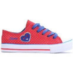 Czerwone Trampki I Love Sport. Czerwone buty sportowe dziewczęce marki Born2be, z materiału, z okrągłym noskiem, na zamek. Za 14,99 zł.