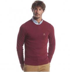 Polo Club C.H..A Sweter Męski M Burgundowy. Czerwone swetry klasyczne męskie marki Polo Club C.H..A, m, z okrągłym kołnierzem. W wyprzedaży za 239,00 zł.