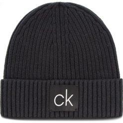 Czapka CALVIN KLEIN - Basic Rib Beanie K50K504096 001. Czarne czapki męskie marki Calvin Klein, z bawełny. Za 179,00 zł.