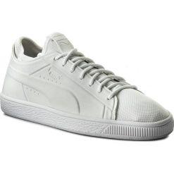 Sneakersy PUMA - Basket Classic Sock Lo 365370 02 Puma Wht/Puma Wht/Puma Wht. Białe trampki chłopięce Puma, z materiału, eleganckie. Za 399,00 zł.