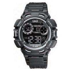 Biżuteria i zegarki męskie: Zegarek Q&Q Męski M148-003 Dual Time czarny