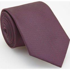 Krawat - Bordowy. Czerwone krawaty męskie Reserved. Za 49,99 zł.