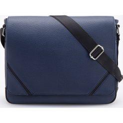 Torba na ramię - Granatowy. Niebieskie torby na ramię męskie Reserved, na ramię. Za 129,99 zł.