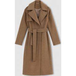 Płaszcze damskie: Długi płaszcz z sukna wełnianego