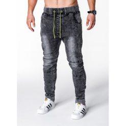 Spodnie męskie: SPODNIE MĘSKIE JEANSOWE JOGGERY P652 – CZARNE