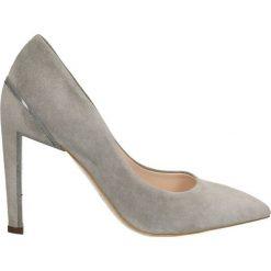Czółenka ANET. Szare buty ślubne damskie Gino Rossi, ze skóry, na wysokim obcasie, na szpilce. Za 199,90 zł.
