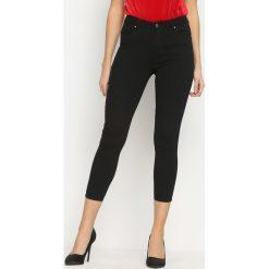 Spodnie damskie: Czarne Jeansy Eclipse