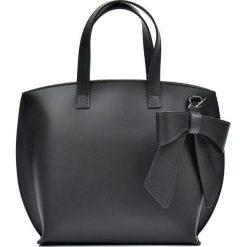 Torebki klasyczne damskie: Skórzana torebka w kolorze czarnym – 40 x 26 x 13 cm