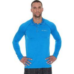 Brubeck Koszulka męska polo Prestige z długim rękawem niebieska r. L (LS10620). Niebieskie koszulki polo marki Brubeck, l, z długim rękawem. Za 215,89 zł.