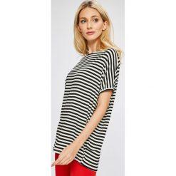 Answear - Top Stripes Vibes. Niebieskie topy damskie marki DOMYOS, z elastanu, street, z okrągłym kołnierzem. W wyprzedaży za 39,90 zł.