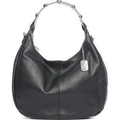 Torebki klasyczne damskie: Skórzana torebka w kolorze czarnym – 38 x 27 x 10 cm