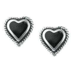 Kolczyki damskie: Black Heart Earstuds Kolczyki – Earpin standard