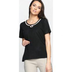 T-shirty damskie: Czarny T-shirt Swash