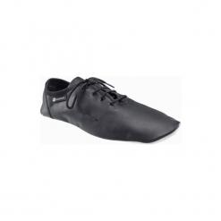 Buty do tańca Jazz Dancing. Czarne buty do fitnessu damskie marki Kazar, z nubiku, przed kolano, na wysokim obcasie. Za 49,99 zł.