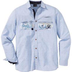 Koszule męskie na spinki: Koszula z długim rękawem Regular Fit bonprix jasnoniebieski w paski