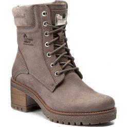 Botki PANAMA JACK - Phoebe B12 Gris/Grey. Szare buty zimowe damskie Panama Jack, z materiału, na obcasie. W wyprzedaży za 459,00 zł.
