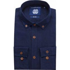 Koszula Jeansowa Granatowa Kenwood. Brązowe koszule męskie jeansowe marki LANCERTO, m, z kontrastowym kołnierzykiem. W wyprzedaży za 199,90 zł.