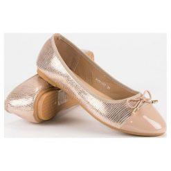 Baleriny damskie lakierowane: Eleganckie baleriny DIAMANTIQUE różowe