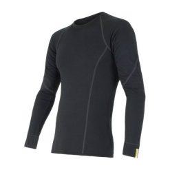 Odzież termoaktywna męska: Sensor Koszulka Termoaktywna Z Długim Rękawem Merino Wool Active M Black S