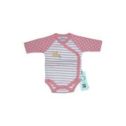 Ebi & Ebi  Body dziecięce Fairtrade Wiewiórka, różowy. Niebieskie body niemowlęce marki Ebi & Ebi, z bawełny, z długim rękawem. Za 55,00 zł.