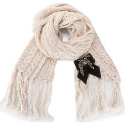 Szal TWINSET - Sciarpa AA7P44 White Ca 00889. Szare szaliki damskie marki Pakamera, na zimę. W wyprzedaży za 289,00 zł.