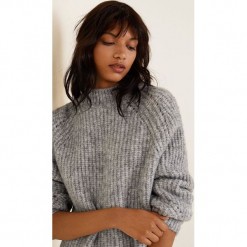 Mango - Sweter Bombom. Szare swetry klasyczne damskie Mango, l, z dzianiny. Za 159,90 zł.
