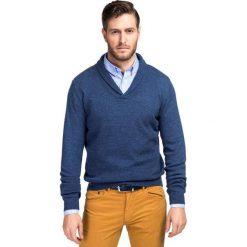 Sweter GERALDO SWNR000155. Niebieskie swetry klasyczne męskie Giacomo Conti, m, z materiału. Za 229,00 zł.