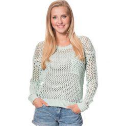 """Sweter """"Turnabout"""" w kolorze miętowym. Białe swetry klasyczne damskie marki Roxy, l, z nadrukiem, z materiału. W wyprzedaży za 151,95 zł."""