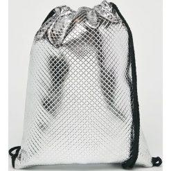 Answear - Plecak. Szare plecaki damskie ANSWEAR, z materiału. W wyprzedaży za 59,90 zł.