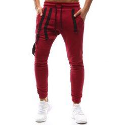 Joggery męskie: Spodnie męskie joggery bordowe (ux1144)