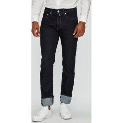 Pierre Cardin - Jeansy. Niebieskie jeansy męskie skinny Pierre Cardin, z aplikacjami, z bawełny. Za 479,90 zł.