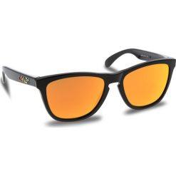 Okulary przeciwsłoneczne OAKLEY - Frogskins OO9013-24-325 Polished Black/Fire Iridium. Brązowe okulary przeciwsłoneczne męskie aviatory Oakley, z tworzywa sztucznego. W wyprzedaży za 449,00 zł.