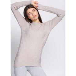 Swetry damskie: Khaki Sweter Prevalent